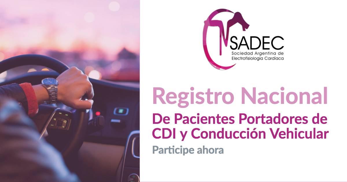 Registro Nacional de Pacientes Portadores de CDI y Conducción Vehicular