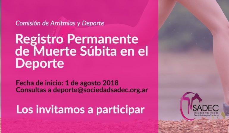 Registro Permanente de Muerte Súbita en el Deporte