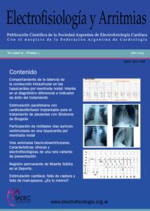 Tapa de la Revista Electrofisiologia y Arrtimias
